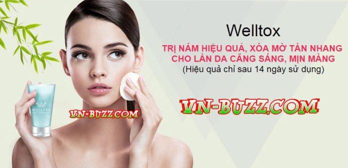 Welltox kem trị nám hiệu quả xóa mờ tàn nhang
